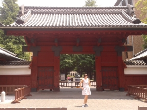 The famous Akamon (Red Gate) of University of Tokyo